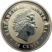 50 Cents - Elizabeth II (4th Portrait - Year of the Rooster - Silver Bullion Coin) – obverse