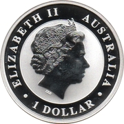 1 Dollar - Elizabeth II (4th Portrait - Australian Wedge-Tailed Eagle) -  obverse