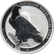 1 Dollar - Elizabeth II (4th Portrait - Australian Wedge-Tailed Eagle) -  reverse