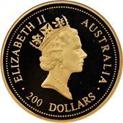 200 Dollars - Elizabeth II (Gold Nugget) -  obverse