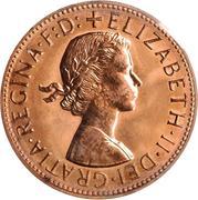 "1 Penny - Elizabeth II (1st Portrait; with ""F:D:"") -  obverse"