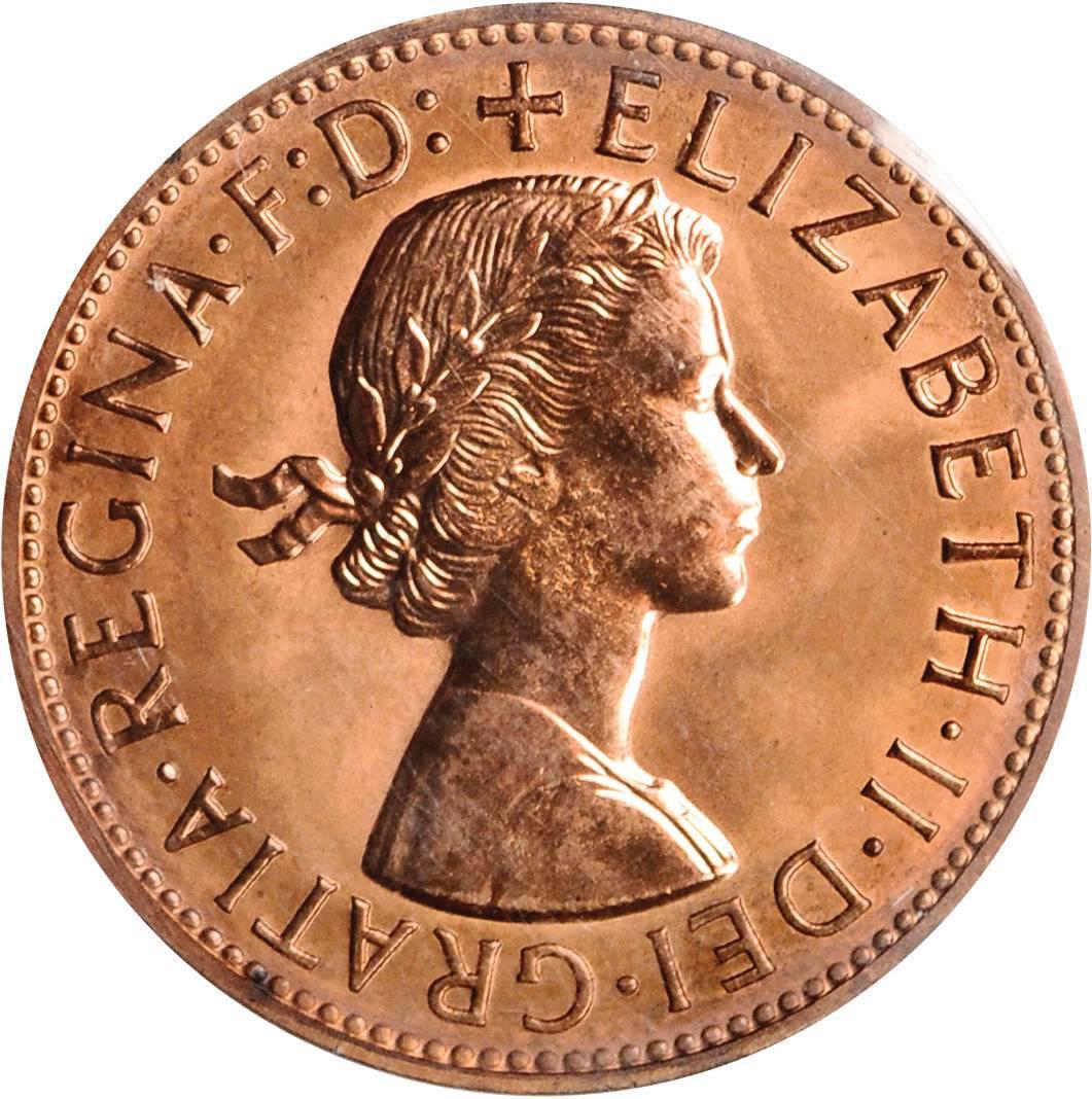 1 Penny - Elizabeth II (1st portrait