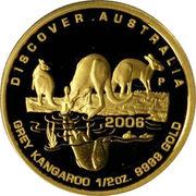 50 Dollars - Elizabeth II (4th Portrait - Grey Kangaroo - Gold Bullion Coin) -  reverse