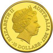 10 Dollars - Elizabeth II (Trans-Australian Railway) – obverse