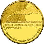 10 Dollars - Elizabeth II (Trans-Australian Railway) – reverse