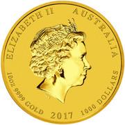 1000 Dollars - Elizabeth II (Year of the Rooster) -  obverse