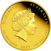 100 Dollars - Elizabeth II (Year of the Rooster) -  obverse