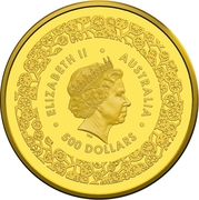500 Dollars - Elizabeth II (4th Portrait - Australian Fabulous Four - Gold Bullion Coin) -  obverse