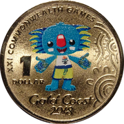 1 Dollar - Elizabeth II (4th Portrait - Commonwealth Games-Borobi Mascot) -  reverse