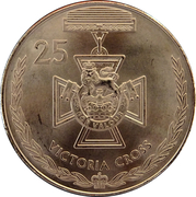 25 Cents - Elizabeth II (Victoria Cross) -  reverse