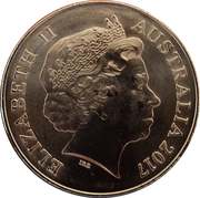 25 Cents - Elizabeth II (Medal for Gallantry) -  obverse
