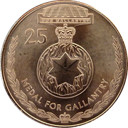 25 Cents - Elizabeth II (Medal for Gallantry) -  reverse