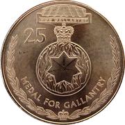 25 Cents - Elizabeth II (Medal for Gallantry) -  reverse