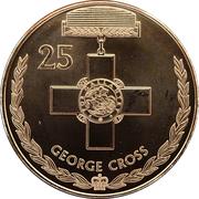 25 Cents - Elizabeth II (George Cross) -  reverse