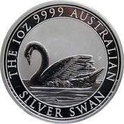 1 Dollar - Elizabeth II (4th Portrait - Australian Swan) -  reverse