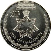 20 Cents - Elizabeth II (4th portrait; Star of Gallantry) – reverse