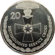 20 Cents - Elizabeth II (4th portrait; Distinguished Service Cross) – reverse