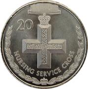 20 Cents - Elizabeth II (Nursing Service Cross) -  reverse
