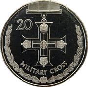20 Cents - Elizabeth II (Military Cross) -  reverse