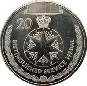 20 Cents - Elizabeth II (Distinguished Service Medal) -  reverse