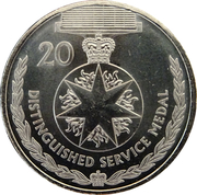 20 Cents - Elizabeth II (4th portrait; Distinguished Service Medal) – reverse