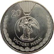 20 Cents - Elizabeth II (4th portrait; Victory Medal) – reverse