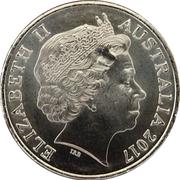 20 Cents - Elizabeth II (1939 - 1945 Star) -  obverse