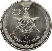 20 Cents - Elizabeth II (1939 - 1945 Star) -  reverse