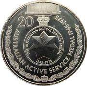 20 Cents - Elizabeth II (Australian Active Service Medal 1945 - 1975) -  reverse