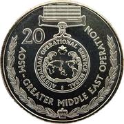 20 Cents - Elizabeth II (Australian Operational Service Medal) -  reverse