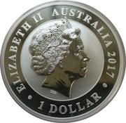 1 Dollar - Elizabeth II (The Australian Stock Horse, Silver Bullion Coinage) -  obverse