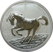 1 Dollar - Elizabeth II (The Australian Stock Horse, Silver Bullion Coinage) -  reverse