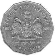 50 Cents - Elizabeth II (Australian Capital Territory) -  reverse