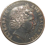 20 Cents - Elizabeth II (Centenary of Federation - Victoria) -  obverse