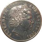 20 Cents - Elizabeth II (Centenary of Federation - South Australia) – obverse