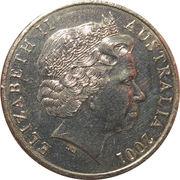 20 Cents - Elizabeth II (Sir Donald Bradman) -  obverse