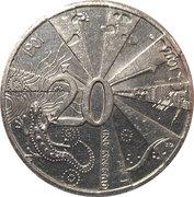 20 Cents - Elizabeth II (Centenary of Federation - Queensland) -  reverse