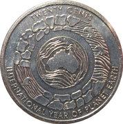 20 Cents - Elizabeth II (Year of Planet Earth) -  reverse