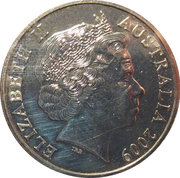 20 Cents - Elizabeth II (4th Portrait - Astronomy) -  obverse