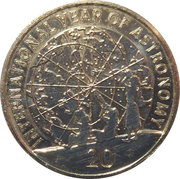 20 Cents - Elizabeth II (4th Portrait - Astronomy) -  reverse