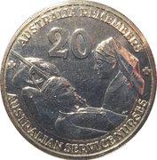 20 Cents - Elizabeth II (Nurses) -  reverse