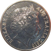 20 Cents - Elizabeth II (4th Portrait - Burke and Wills) – obverse