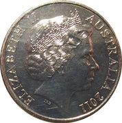 20 Cents - Elizabeth II (4th Portrait - Australian Wool) -  obverse