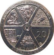 20 Cents - Elizabeth II (4th Portrait - Australian Wool) -  reverse