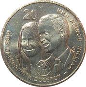 20 Cents - Elizabeth II (Royal Wedding) -  reverse