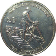 20 Cents - Elizabeth II (War Historians) -  reverse
