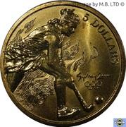5 Dollars - Elizabeth II (3rd Portrait - 05 - Hockey) -  reverse