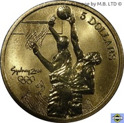 5 Dollars - Elizabeth II (4th Portrait - 06 - Basketball) -  reverse