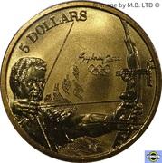 5 Dollars - Elizabeth II (3rd Portrait - 09 - Archery) -  reverse