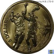 5 Dollars - Elizabeth II (4th Portrait - 12 - Handball) -  reverse